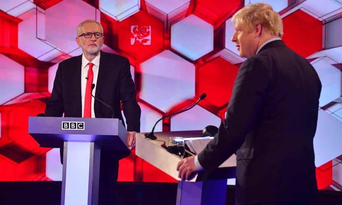 Het BBC-televisiedebat tussen Corbyn en Johnson.