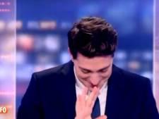 Le fou rire d'Olivier Schoonejans dans le JT de 13h