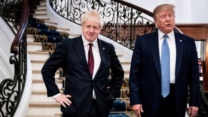 """Trump noemt Johnson """"juiste man"""" voor brexit"""