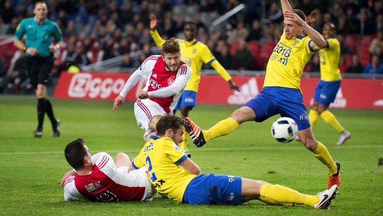 Cambuur eerder dit seizoen in de wedstrijd tegen Ajax in de Arena Beeld anp
