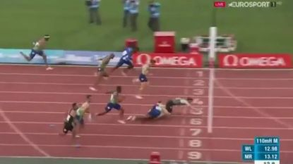 Straffe finish op 110 meter horden in Diamond League: rivalen al vallend over streep