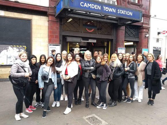 De leerlingen van Dvm-HTB in Londen.