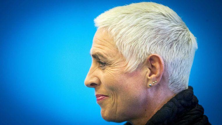 Staatssecretaris Wilma Mansveld kondigt haar aftreden aan. Beeld anp