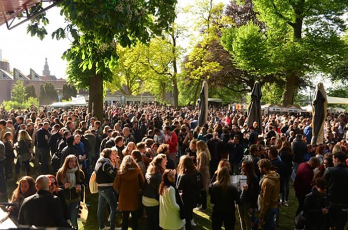 De vorige editie van de Bierfeesten in het Valkhofpark.