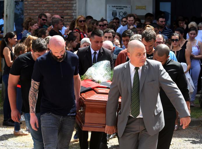De begrafenis van Emiliano Sala.