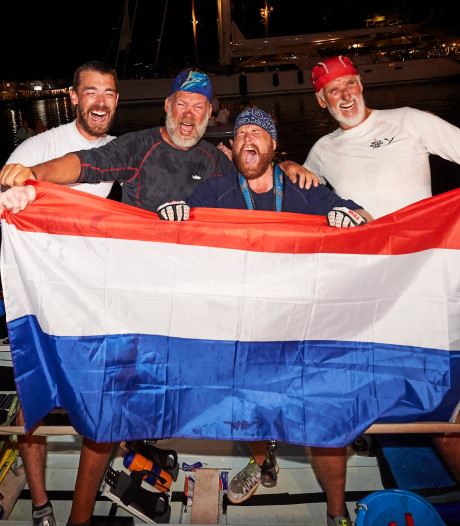 Roeiers winnen extreme roeitocht van 5000 kilometer op Oldenzaalse zitjes