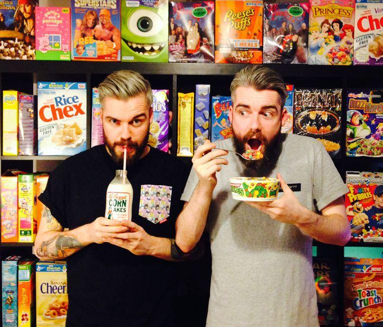 De oprichters van het Cereal Killer Cafe. Beeld Cereal Killer Cafe