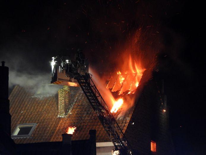 De brand in de Schuttersstraat in Brugge