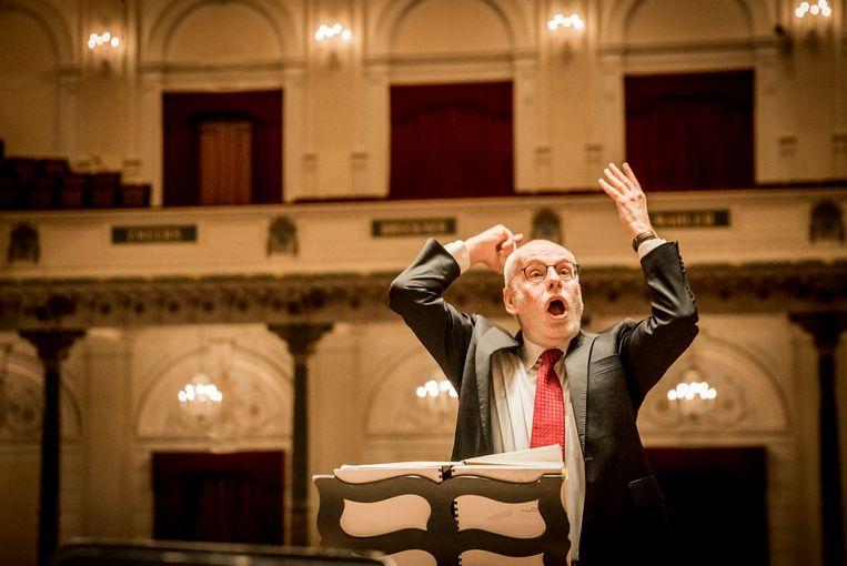 Ton Koopman: 'Ik zou al blij zijn, mocht Bach ooit een uitvoering van me horen, dat hij zou zeggen: Jongen, je zit aardig in de buurt.' Beeld Foppe Schut
