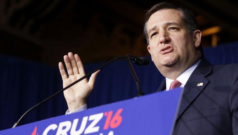 Ted Cruz, gisteravond. Beeld ap