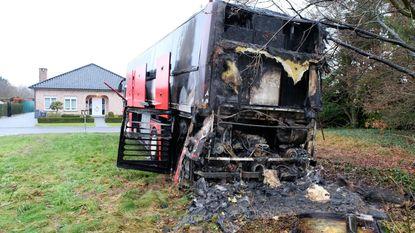 Autobus wielerploeg brandt uit