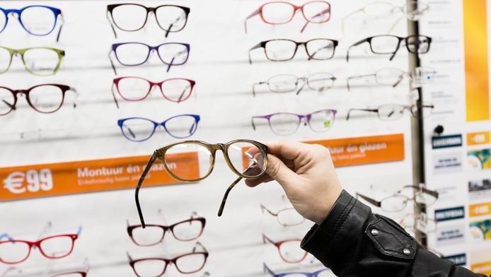 Een filiaal van een brillenwinkel