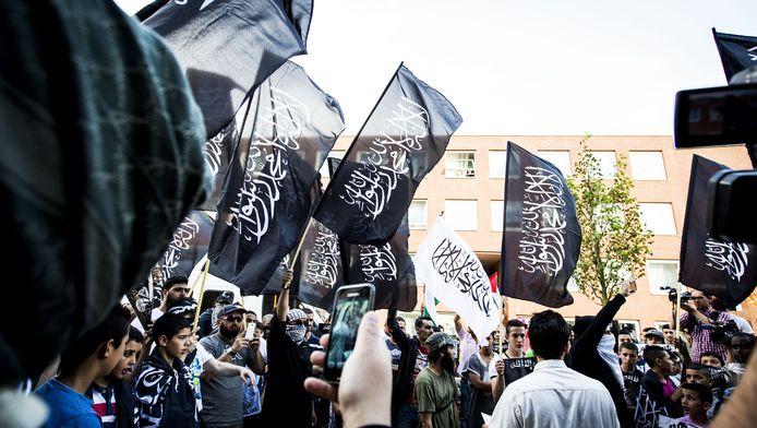 Pro-IS demonstratie in de Schilderswijk, vorig jaar zomer.
