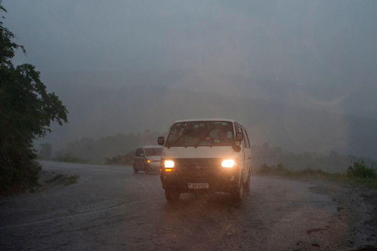 Beelden van het begin van de tropische cycloon Idai.