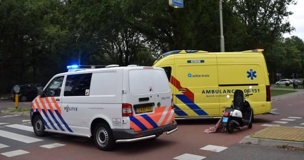 Scooterbestuurder gewond bij botsing in Doetinchem.