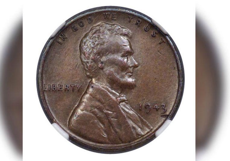 De penny uit 1943.