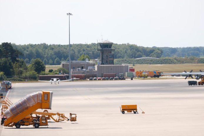 Het vliegverkeer ligt plat bij Eindhoven Airport