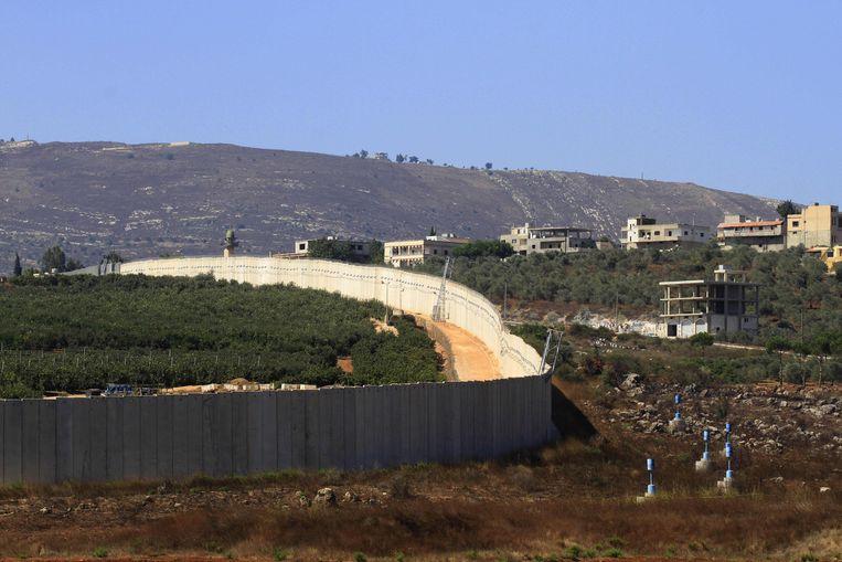 De grens tussen Israël en Libanon