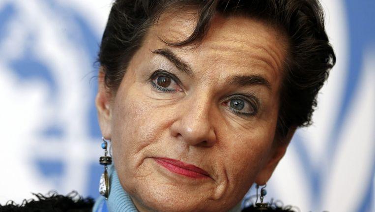 """Voorzitter Christiana Figueres looft de """"constructieve geest"""" van de onderhandelingen."""