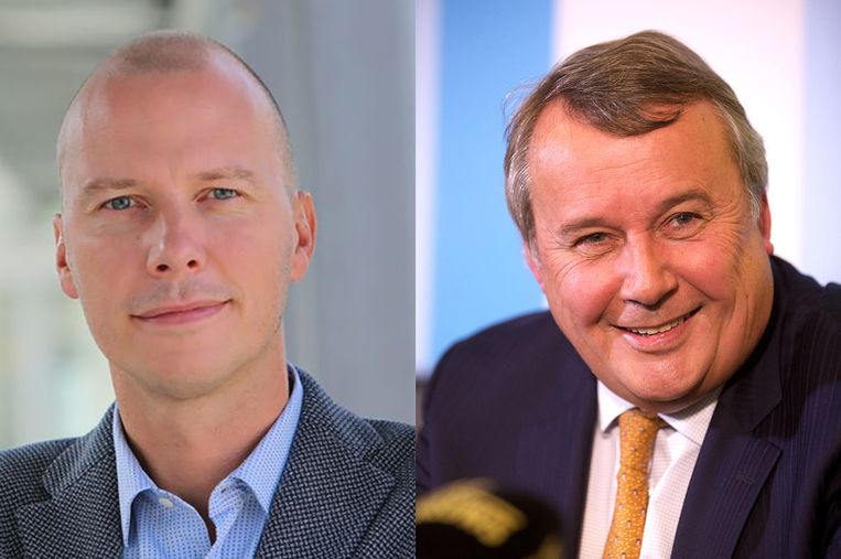 Peter Claes, directeur Media en Productie en Paul Lembrechts, CEO van de VRT.