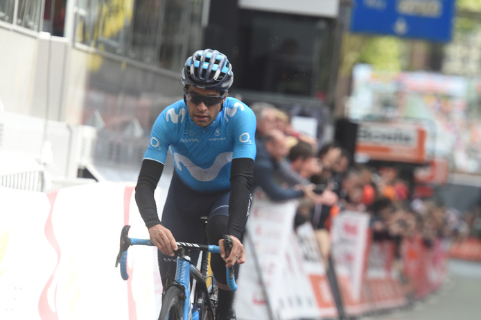 Mikel Landa is bij afwezigheid van Alejandro Valverde de kopman van Movistar in de Giro, samen met Carapaz.