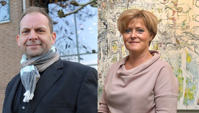 Wethouder Bollen en oud-burgemeester Sijbers.
