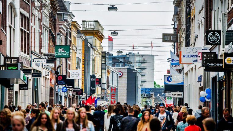 De Herestraat in Groningen. Beeld null