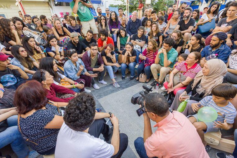 Collectif, een mobiel stadsparlement over maatschappelijke kwesties. Beeld Pol Guillard
