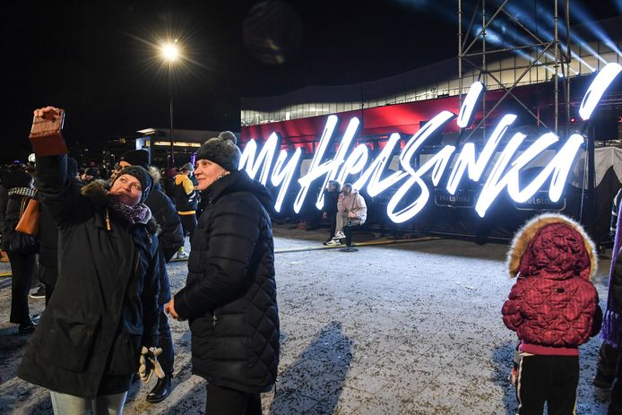 Finnen vieren het begin van het nieuwe jaar in de hoofdstad Helsinki.