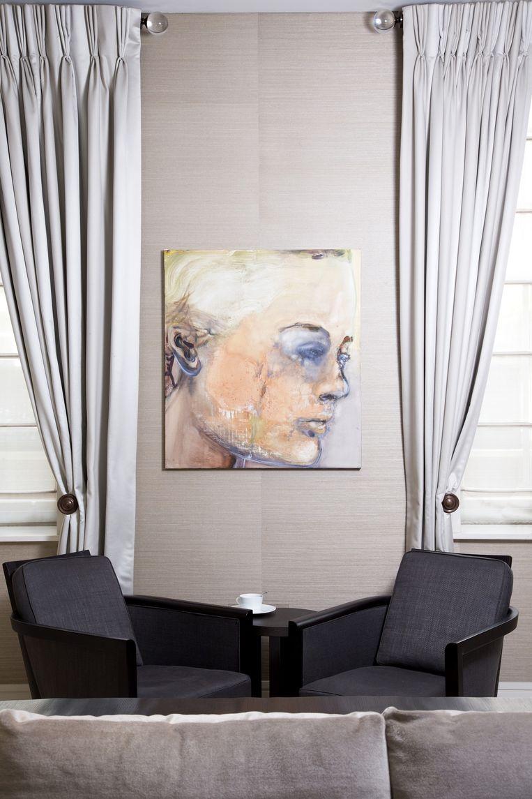 Rattan Chadha over Sad Romy: 'Het was de ongelooflijke tristesse in het schilderij die me diep raakte.' Beeld Judith Jockel