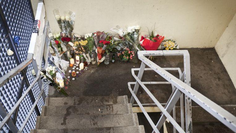 Het trappenhuis van de Hogevecht parkeergarage (de plek van de moord). © Marc Driessen Beeld