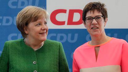 Wordt Annegret Kramp-Karrenbauer klaargestoomd tot Merkels opvolgster?