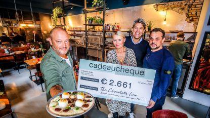 Chocolade pizza van Dominique Persoone levert 2.261 euro op