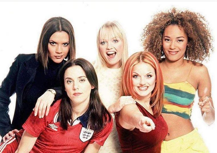 De Spice Girls, zo'n 20 jaar geleden in hun gloriedagen.