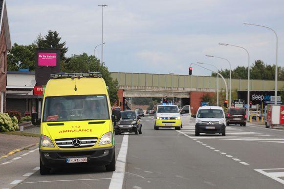 Het ongeval gebeurde tussen de Pizza Expres en de Carrefour.