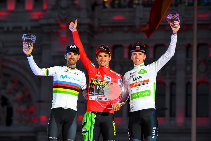 Primoz Roglic van Jumbo-Visma won de Vuelta dit jaar.