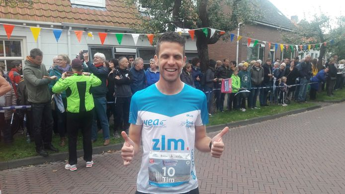 Tim Pleijte vlak voor de start in Burgh.