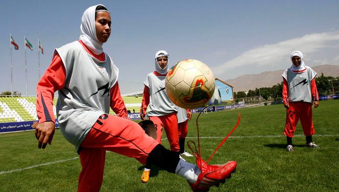 Joueuses de football en Iran