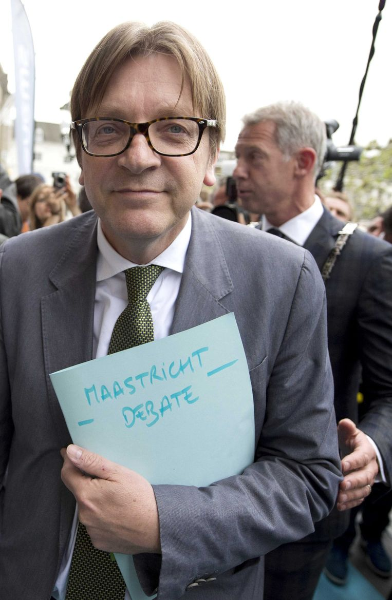 Guy Verhofstadt is fractieleider van de Liberalen en Democraten in het Europees Parlement. Beeld .