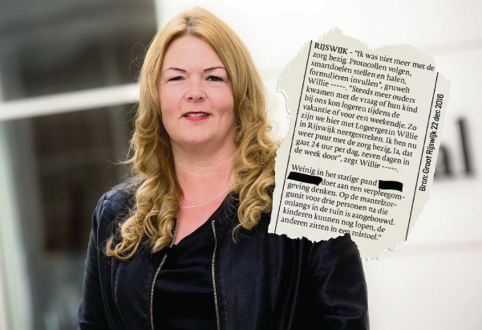 PVV-raadslid Willie Dille. Inzet: een artikel waarin Dille zelf meldt dat ze in Rijswijk woont (en niet in Den Haag, zoals verplicht).