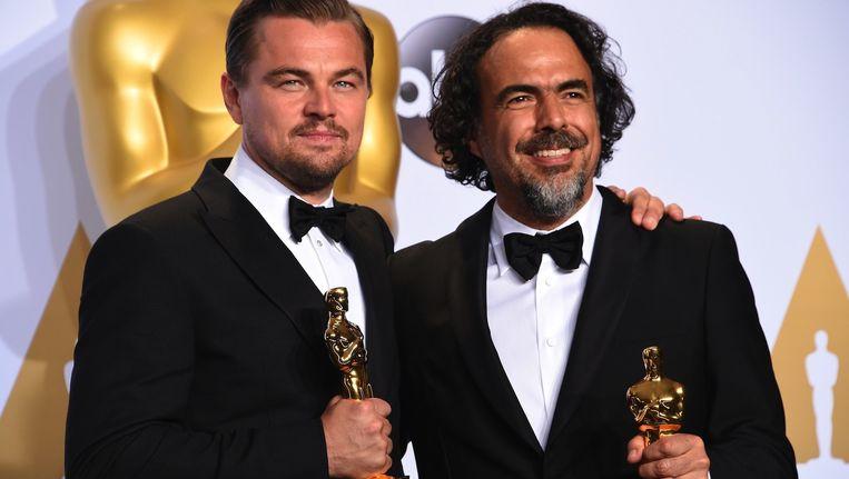 Leonardo DiCaprio (Beste acteur) en Alejandro G. Iñárritu (Beste regisseur). Beeld anp
