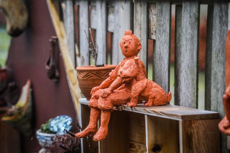 Het allereerste kunstwerk van Chris Lowyck was Kuifje en Bobby in klei.