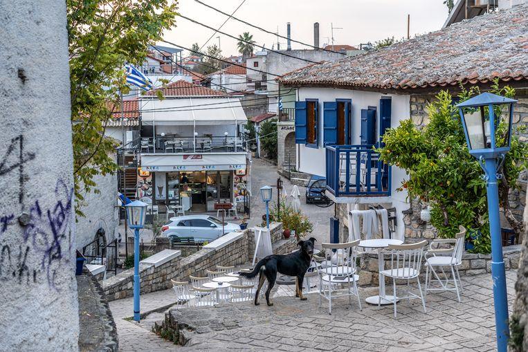 Het dorp Afytos. Beeld null