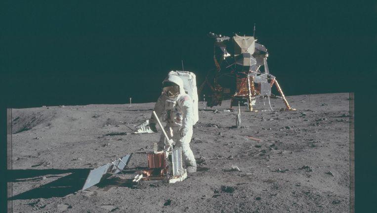 NASA-beelden van de vierde bemande missie naar de maan in in 1971, Apollo 15. Beeld NASA