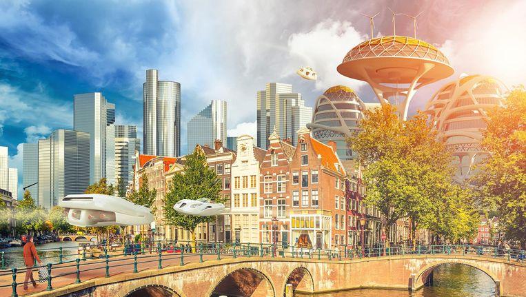 Amsterdam in 2025: voller en anoniemer, maar nog bruisender Beeld Sjoerd Stellingwerf