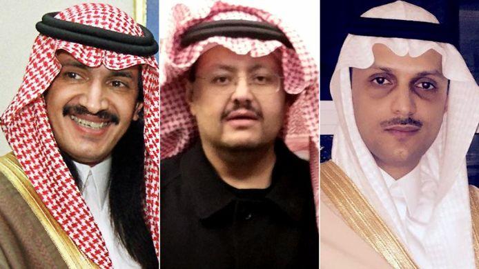 De harde kritiek op Saoedi-Arabië en de koninklijke familie is drie prinsen fataal geworden. Ze zijn in het Westen ontvoerd en naar hun vaderland gebracht. Van links naar rechts: prins Sultan Turki bin Bandar, prins Sultan bin Turki en prins Saud bin Saif al-Nasr.
