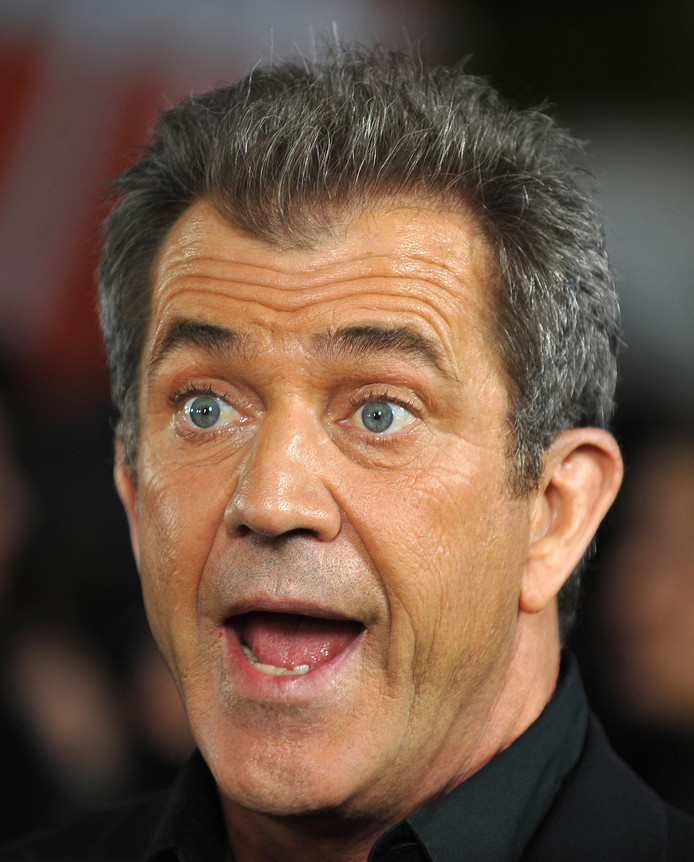 Ja, dat was schrikken voor Mel Gibson.