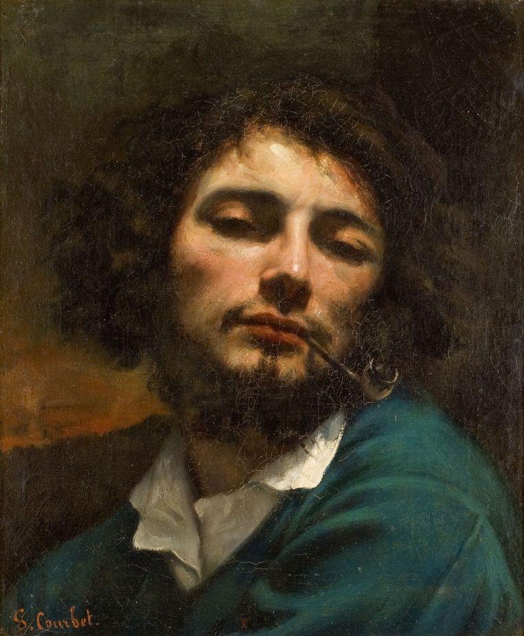 Man met pijp, 1846, Gustave Courbet. Beeld Van Gogh Museum