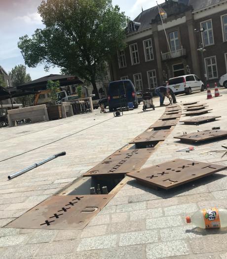 Markt Veghel weer open: nu met een fontein erbij