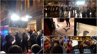 Agent loopt schedelbreuk op bij rellen in Brussel: 71 jongeren opgepakt, vijf winkels beschadigd en tien voertuigen vernield